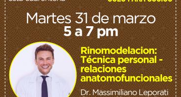 Rinomodelacion: Técnica personal - relaciones anatomofuncionales